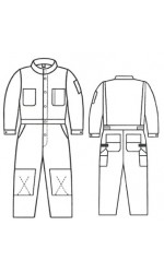 G4.7011 88/12 Fire & Arc Resistant Canvas Unlined Coveralls