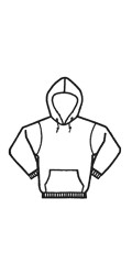 GK.444 Fire Resistant 80/20 Cotton/Poly One-sided Fleece Hooded Pullover