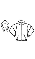 GK.888 Fire Resistant 80/20 Cotton/Poly One-sided Fleece Full Zipper Jacket