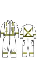 GT.7011 88/12 Fire & Arc Resistant Canvas Unlined Coverall with Stripes