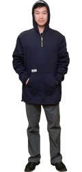 F3.4712 FR Modacrylic Cotton Jogging Fleece Hooded Half Zippered Pullover