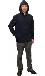 F3.4722 FR Modacrylic Cotton Jogging Fleece Hooded Full Zippered Jacket