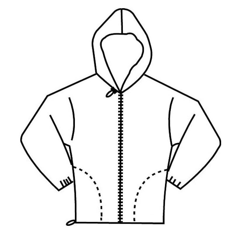 F3 4722 Fr Modacrylic Cotton Jogging Fleece Hooded Full