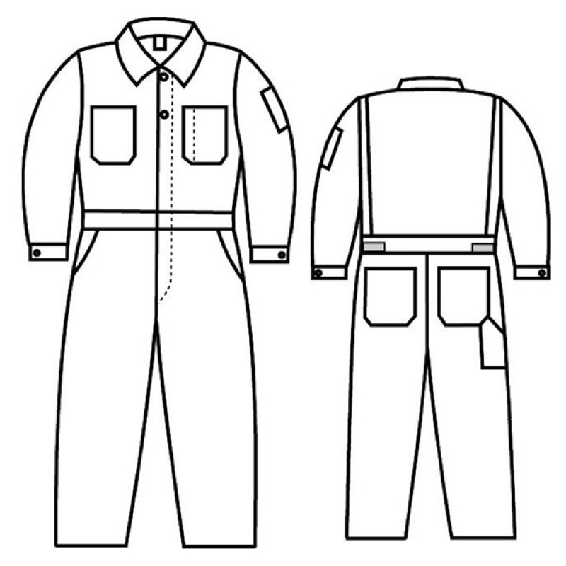 G1 787 Banox Certified Unlined Coverall Clearance