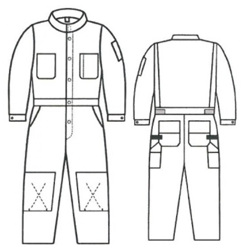 G4 7011 88 12 Fire Amp Arc Resistant Canvas Unlined Coveralls