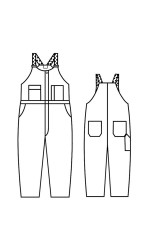 GB.702AU UltraSoft Unlined Bib Overall