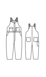 GB.705A Kermel Unlined Bib Overall
