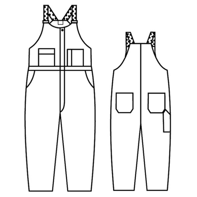 Gb 708a Banox Certified Unlined Bib Overall