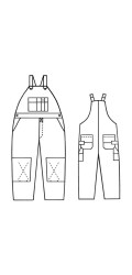 GB.710 88/12 Fire & Arc Resistant Canvas Unlined Bib Overalls