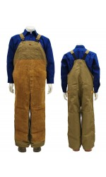 GB.713 PBI Kevlar FR Unlined Bib Overall with Leather Front