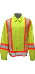 GJ.2326 100% Polyester High Visibility Highway Traffic Jacket