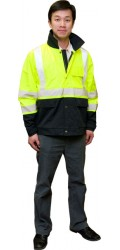 GJ.2352H High Visibility Waterproof Coated Highway Jacket