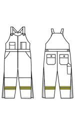 GT.702PU UltraSoft Insulated Bib Overall with Stripes