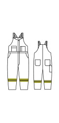 GT.705A Kermel Unlined Bib Overall