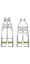 GT.705K Kermel Insulated Bib Overall