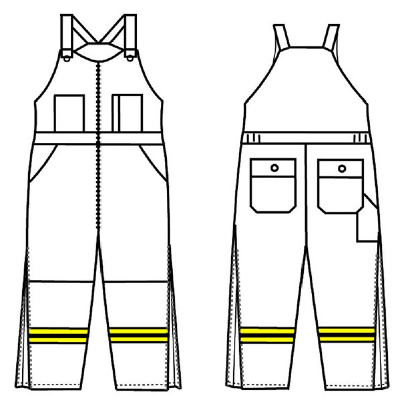 Gt 708p Banox Certified Insulated Bib Overall