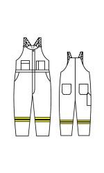 GT.709A Nomex IIIA Unlined Bib Overall