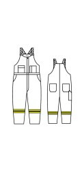 GT.715A Kermel Vapro-Lite Unlined Bib Overall