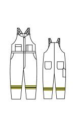 GT.719A Nomex IIIA Vapro-Lite Unlined Bib Overall