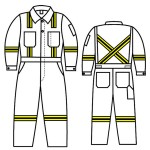 GT.787 Banox Certified Unlined Coverall