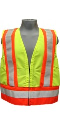 GV.2266 100% Polyester High Visibility Highway Traffic Safety Vest