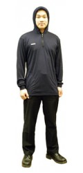 NM.P49 Nomex Jersey Half Zippered Long Sleeve Hooded Pullover