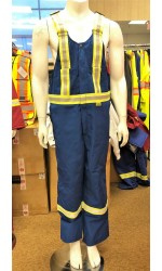 GB.309A Nomex IIIA Unlined Bib Overall with Full Stripes