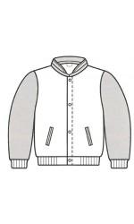 MJ.2328 Melton & Leather Bomber Jacket