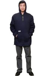 F3.4712 FR Modacrylic Cotton Jogging Fleece Hooded Half Zippered Pullover