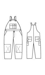 GB.710 88/12 Fire & Arc Resistant Canvas Unlined Bib Overalls
