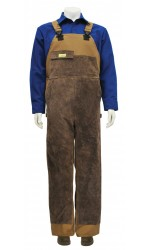 GB.712 88/12 Cotton Nylon FR Canvas Unlined Bib Overall With Leather Front
