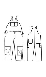 GB.777A 88/12 Cotton Nylon FR Canvas Unlined Bib Overall
