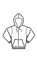 GK.2411 80/20 Cotton/Poly Full Zippered Hooded Pullover
