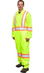 GK.6006 100% Polyester High Visibility Highway Coverall
