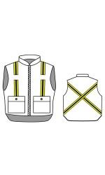 GT.2221 88/12 Cotton/Nylon FR Insulated Vest