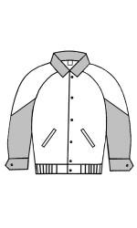 MJ.3031 Melton & Leather Jacket With Raglan Sleeves