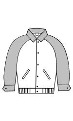 MJ.3425 Melton & Leather Jacket With Raglan Sleeves